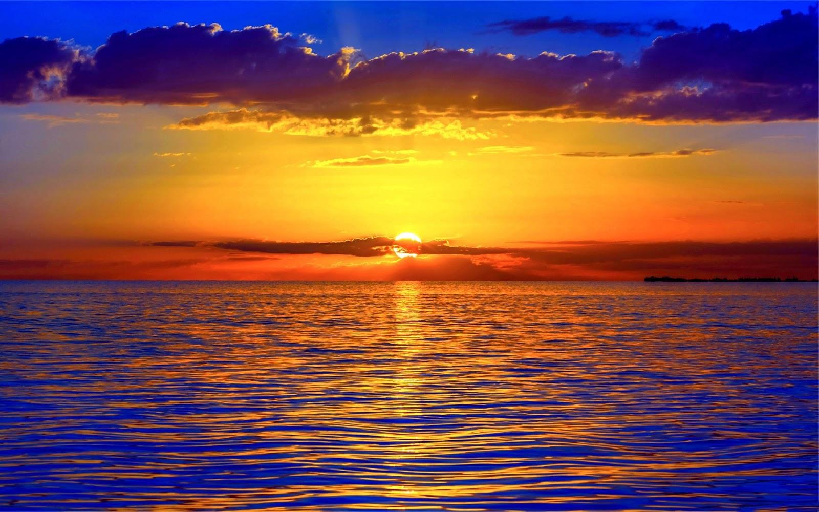 красочный закат над морем  № 1258764 без смс