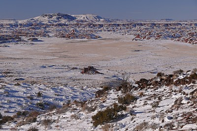 Painted Desert snow