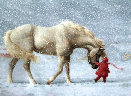 christmas-scene-horse-theme