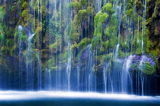 Mossbrae Falls cascades into the Sacramento River outside of Dunsmuir, CA.