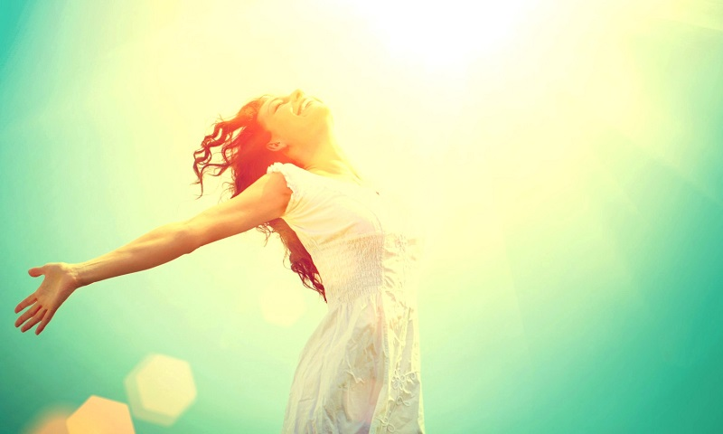 Free Happy Woman Enjoying Nature. Beauty Girl Outdoor. Freedom concept. Beauty Girl over Sky and Sun. Sunbeams. Enjoyment. ; Shutterstock ID 146971178; PO: aol; Job: production; Client: drone